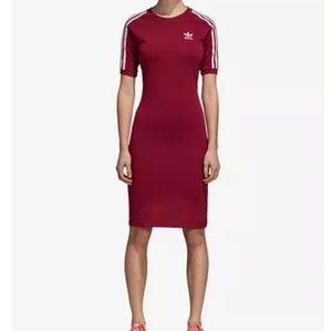 NWT Adidas Knee Length T-Shirt Bodycon Dress